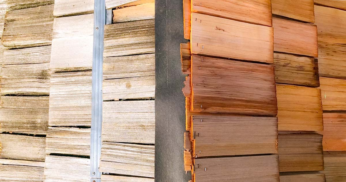 old vs new wood roofing